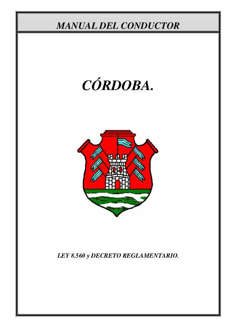 Manual del buen conductor de la provincia de Cordoba