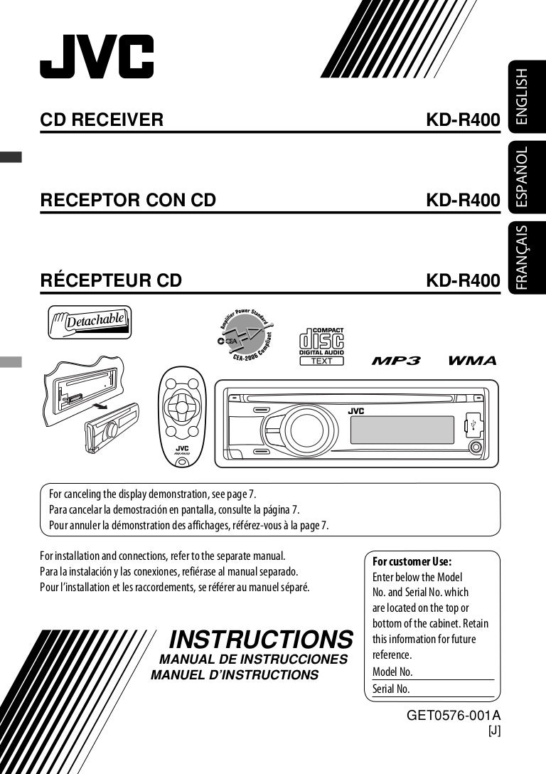 Manual de operacon de autoradio jvc