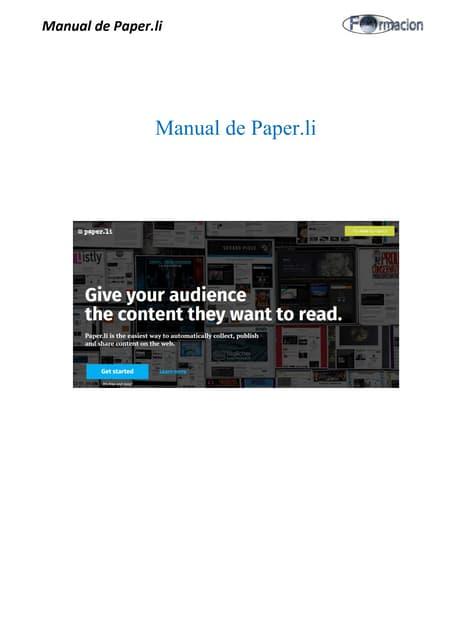 Manual de paper.li (agosto 2.015 )