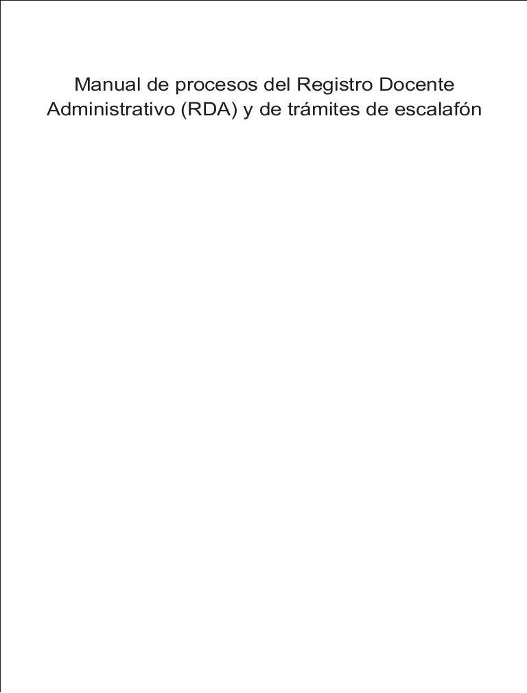 Manual de procesos registro docente administrativo y trámites de esca…