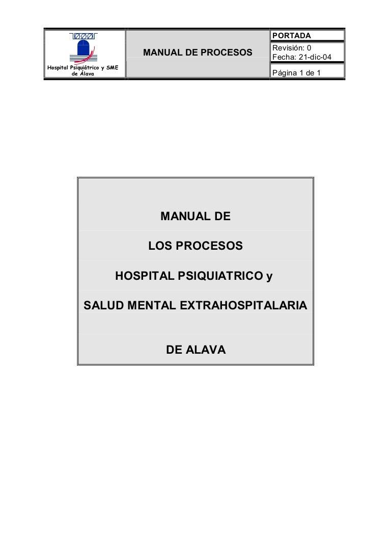 Manual de Procesos Salud Mental Alava