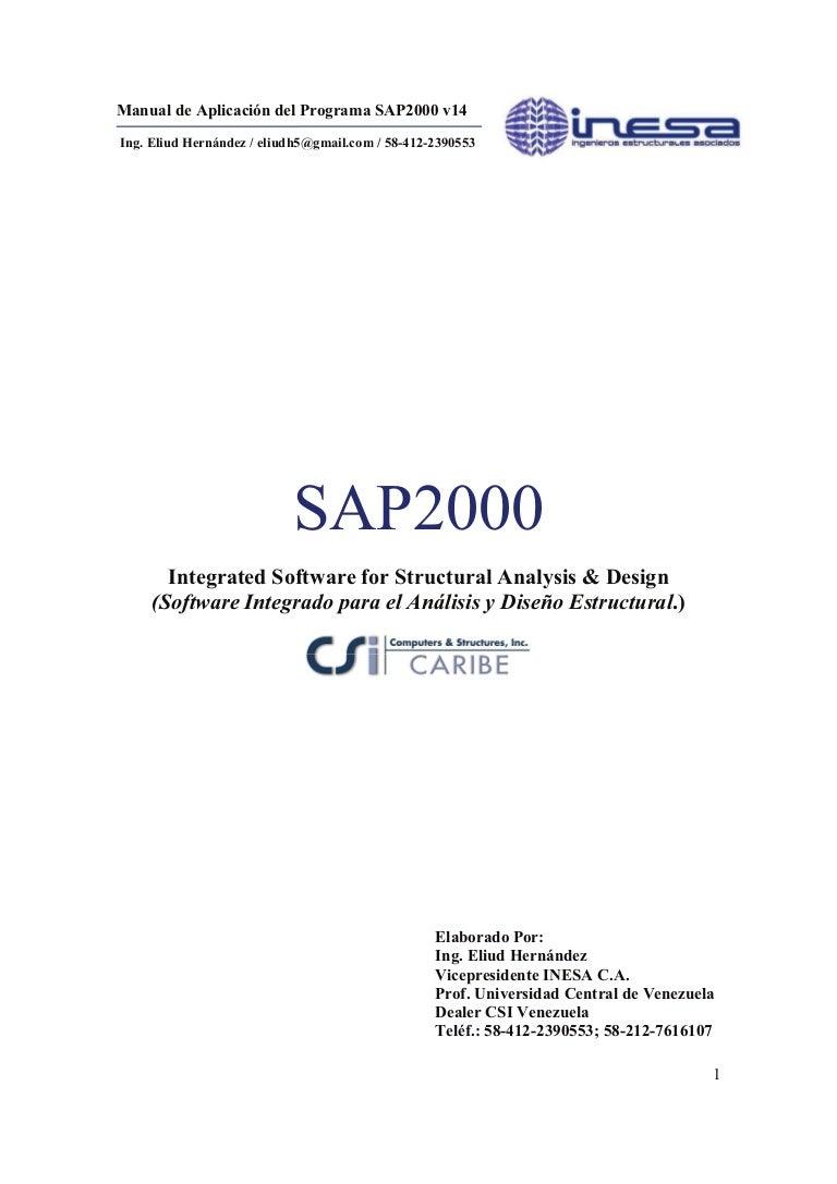 Manual De Sap2000 V14 Marzo 2010 Parte A