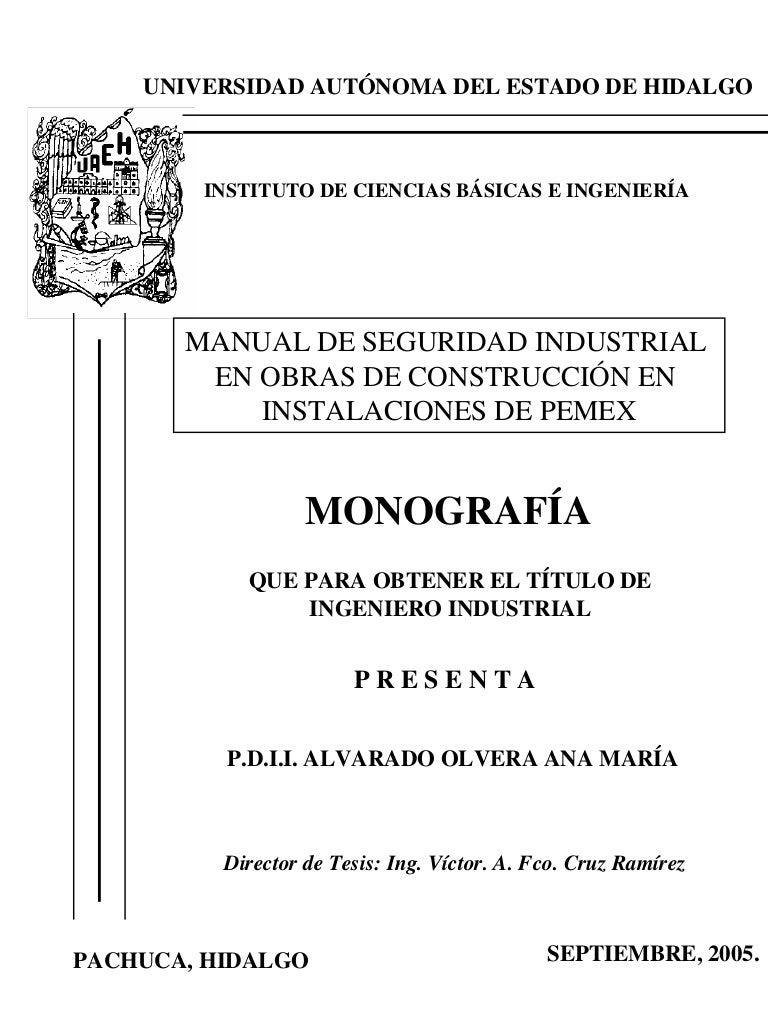 Manual de seguridad industrial en obras
