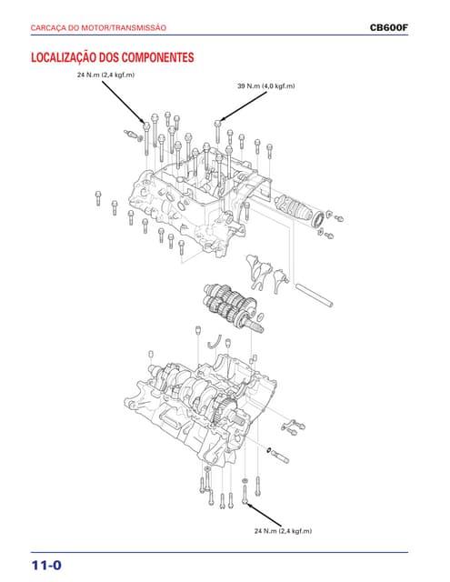 Manaul de serviço cbr600 f(3) (2001~) manivela