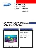Manual de serviço tv led samsung ua32 f5500 chassis u85a