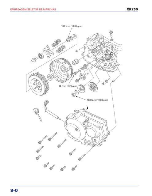 Manual de serviço xr250 alternador
