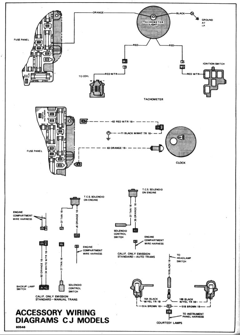 Cj 7 Wiring Diagram Schematics 1985 Jeep Engine Harness 1967 Detailed 1980 Cj5 1978