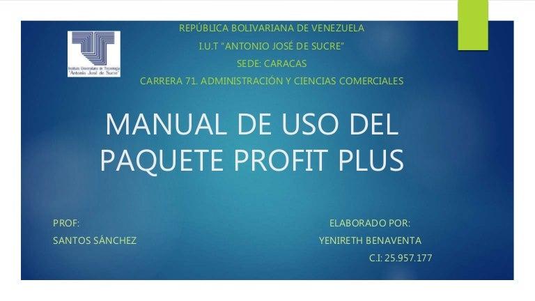 Profit plus administrativo manual.