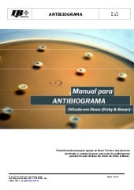 Manual do antibiograma