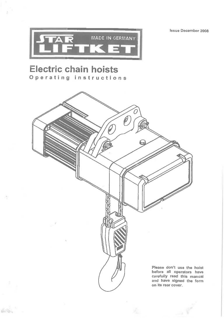 dayton electric chain hoist wiring diagram