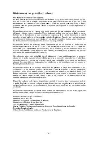 Giulianno Bozzo Moncada Manual guerrillero urbano_1968