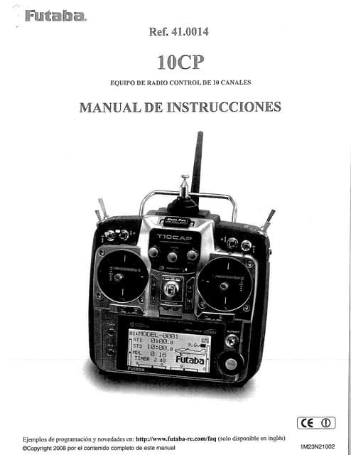 Futaba 8j manual español