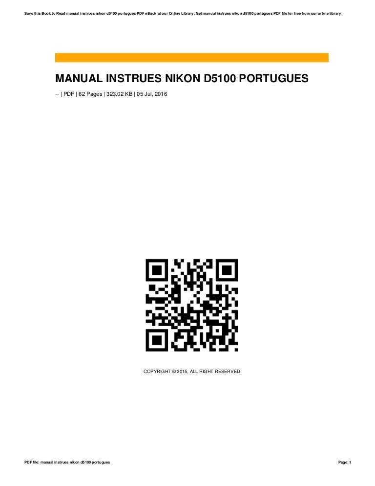 Manual instrues nikon d5100 portugues