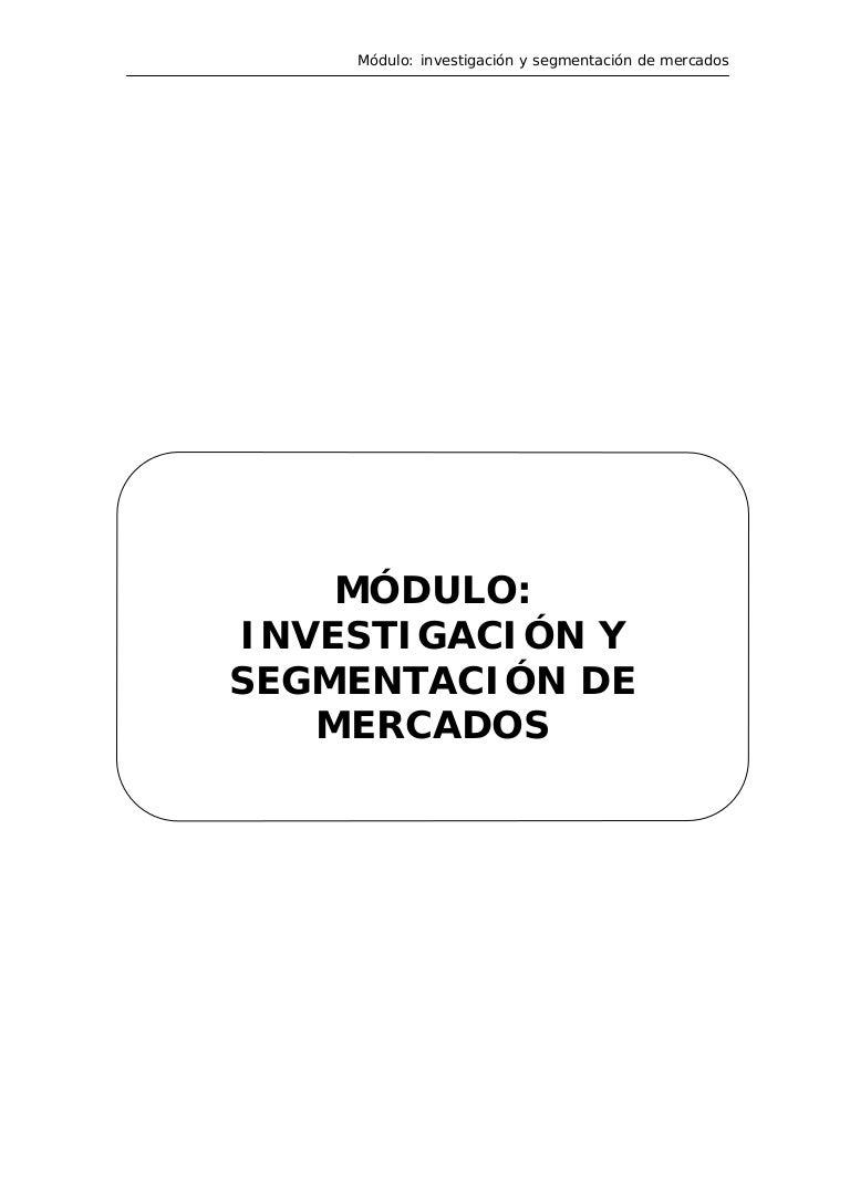 Manual investigación y segmentación de mercados