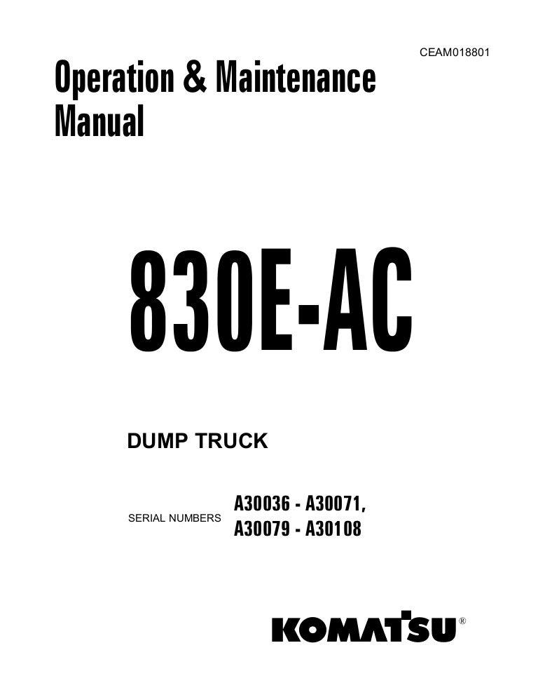 Manual operacion y mantenimiento 830 ac