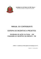 Manual de Patrocínio via ProAC e PIE - Para empresas