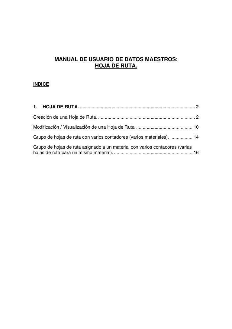 Manual pp hojas de ruta