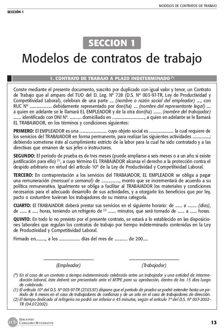 Modelo de contrato eventual de trabajo formato machote for Formato de contrato de trabajo indefinido