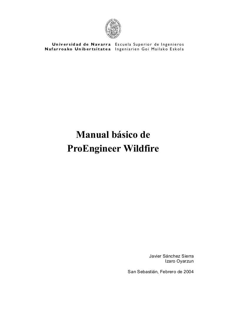 pro e wildfire manual pdf