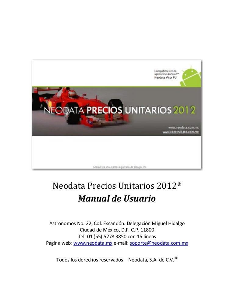Manual neodata 2009.