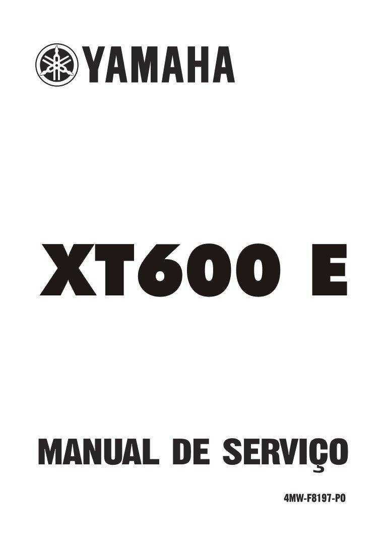 Manual serviço yamaha xt 600 e.