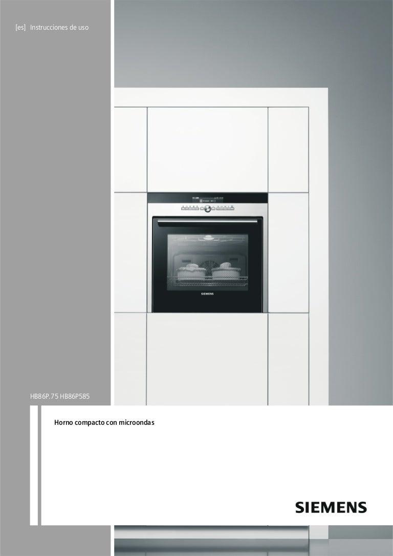 Manual siemens horno compacto hb86p575