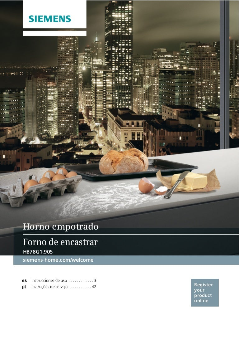 Manual siemens horno hb78g1590s