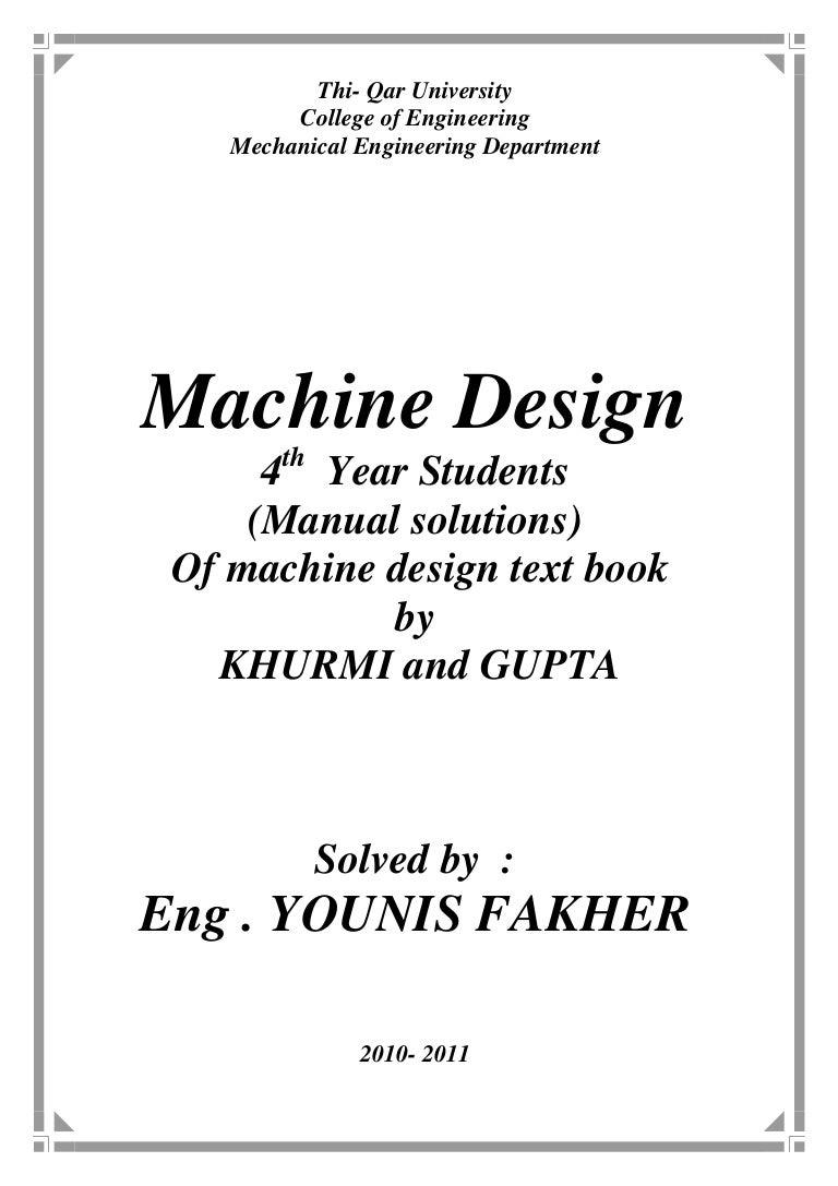 manualsolutionsformachinedesignbykhurmiandgupta 121124075743 phpapp01 rh slideshare net Electrical Mechanical Engineering Nuclear Minority Mechanical Engineering Student