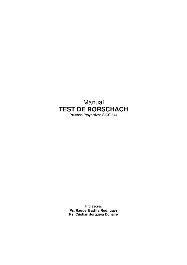 Manual test de rorschach 644