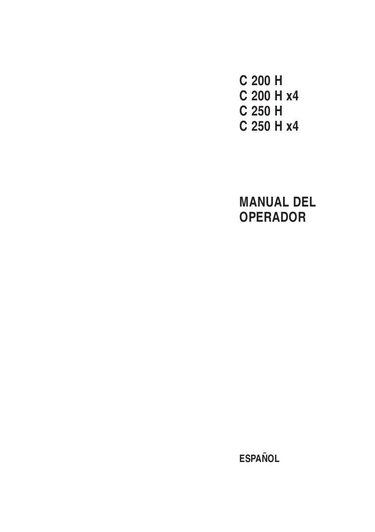 Circuito Hidraulico Mixto : Manual usuario ausa c200 h c200hx4 c250h c250hx4