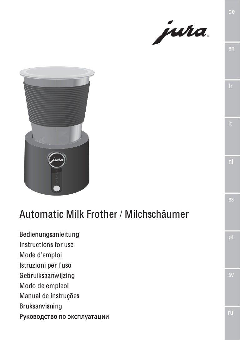 manuel emulsionneur de lait jura. Black Bedroom Furniture Sets. Home Design Ideas