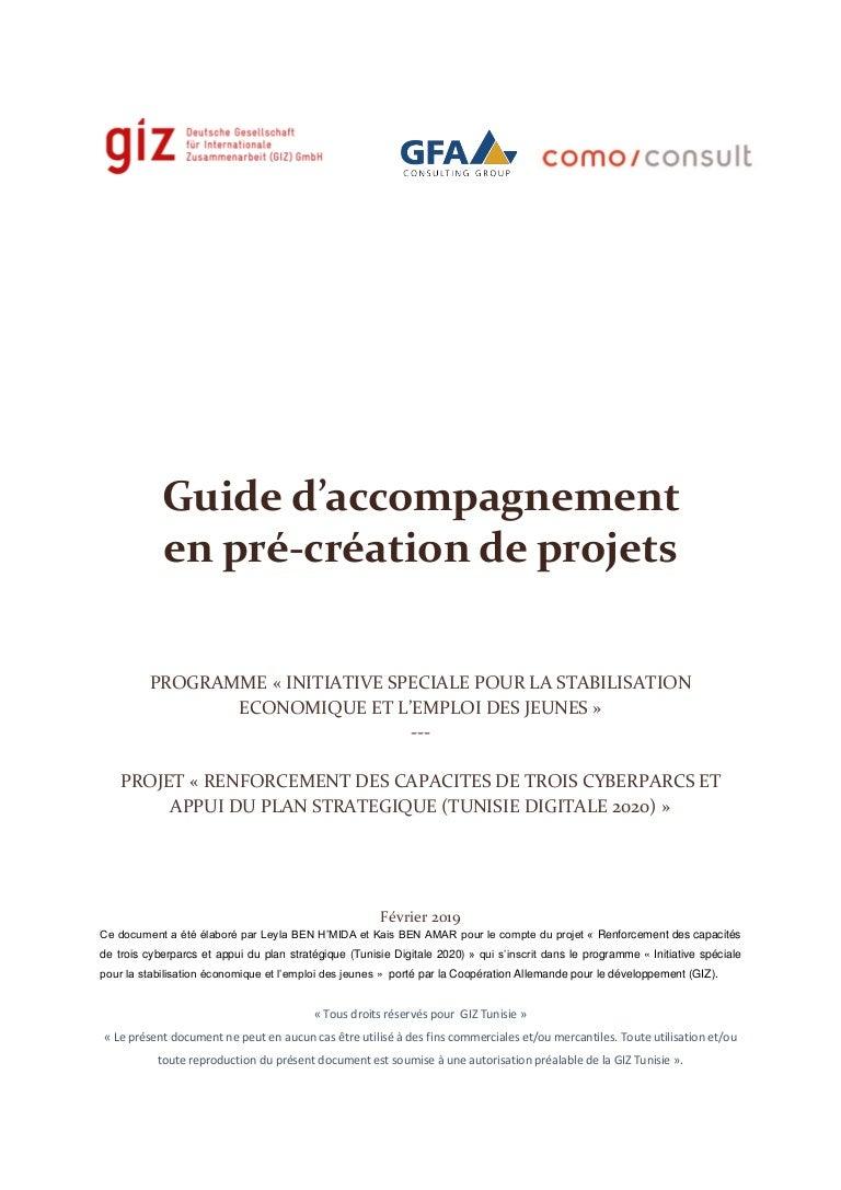 Fabrication D Escalier En Tunisie manuel d'accompagnement pré-création