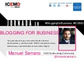 JORNADA DE BLOGGING FOR BUSINESS