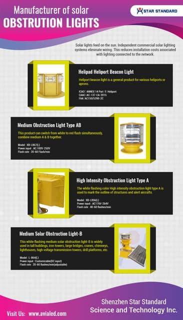 Manufacturer of solar obstruction light