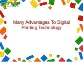 Many advantages to digital printing technology