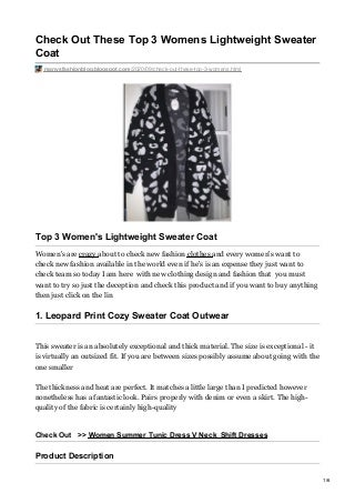 check out these top 3 womens lightweight sweater coat