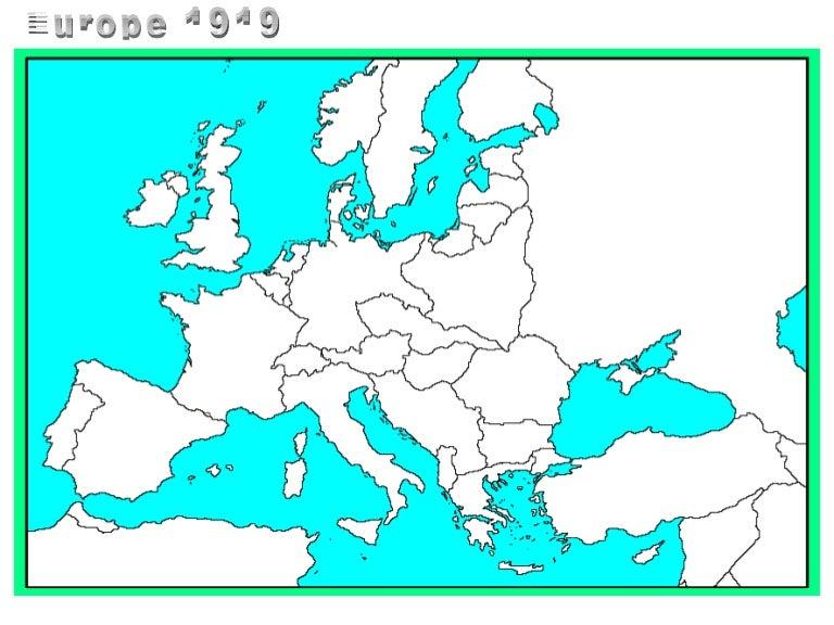 Map: Europe 1919
