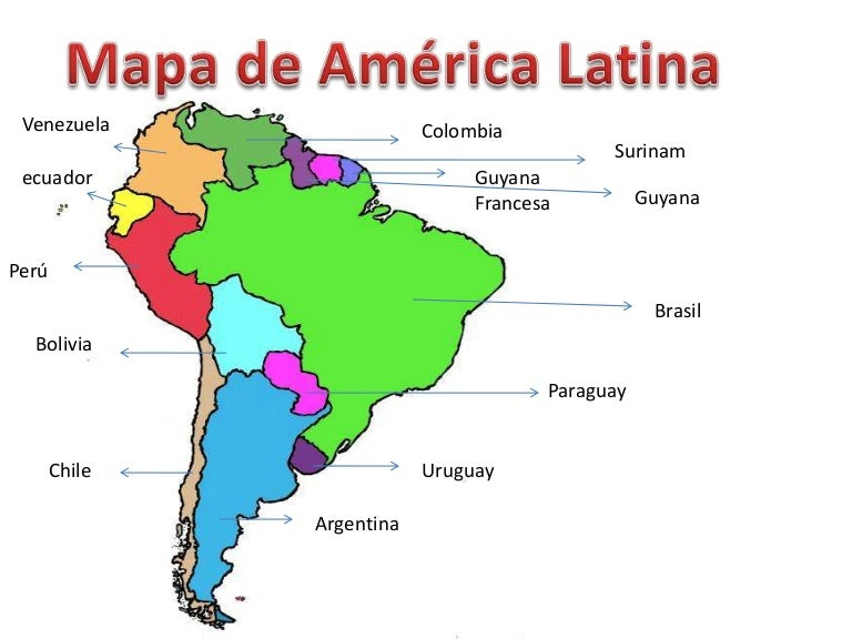 Mapa America Latina Con Nombres