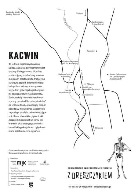 WIEŚ KACWIN NA SPISZU (mapa)