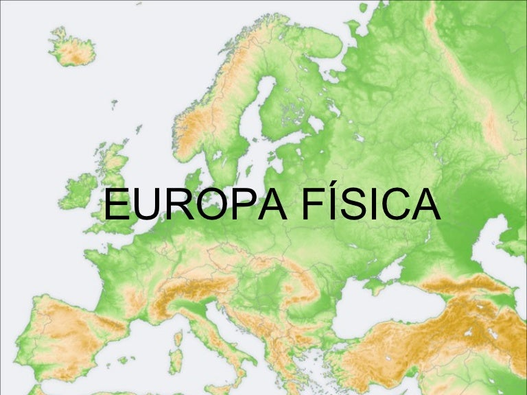 Mapa fsico de Europa