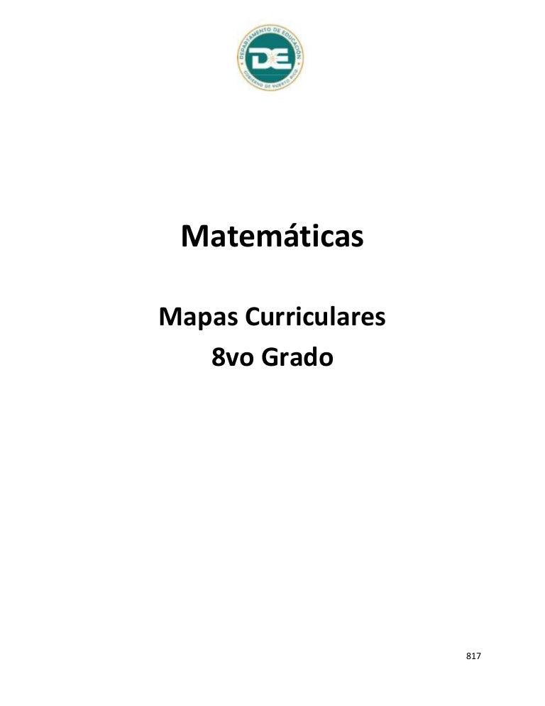 Estándares matematicas 8vo