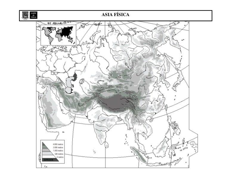 Mapa Mudo De Africa Y Asia.Mapa Mudo Fisico Asia
