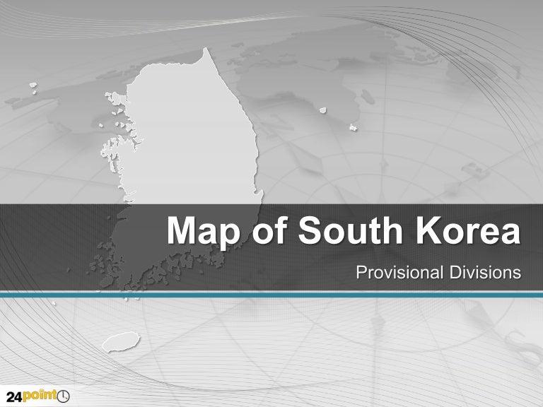 South korea editable powerpoint map toneelgroepblik Choice Image