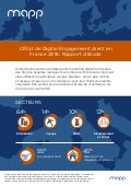 Infographie Mapp : état de digital engagement client en France 2016