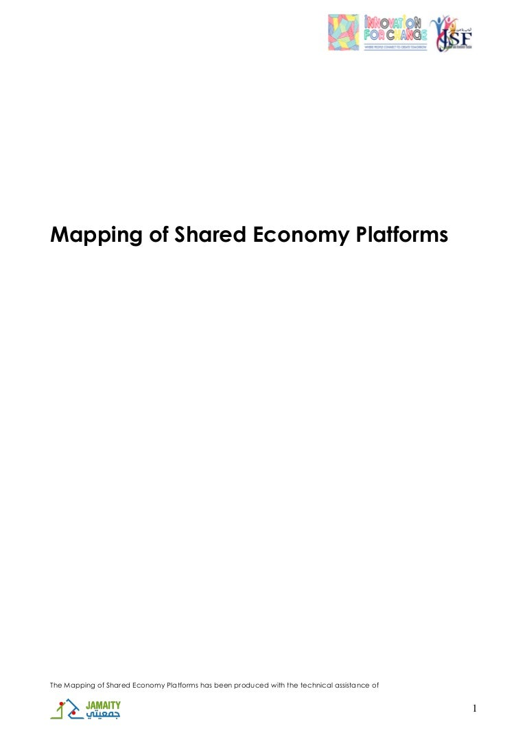 Mapping of Shared Economy Platforms