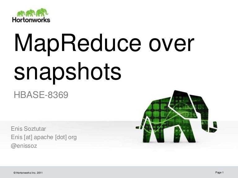 Mapreduce over snapshots