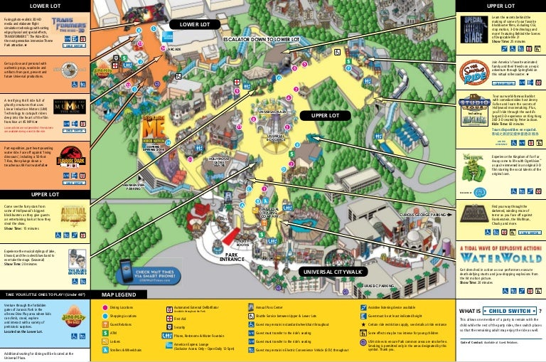 Map universalstudios hollywood