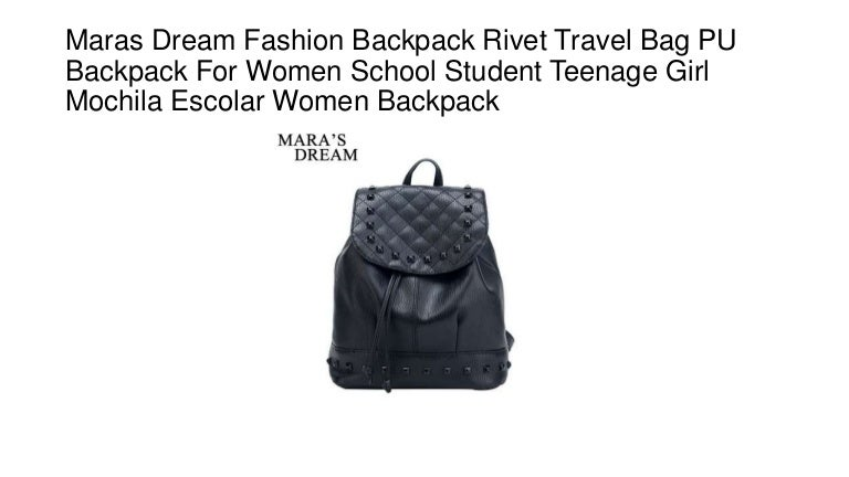 c20ddc1b1a19 Maras dream fashion backpack rivet travel bag pu backpack for women s…