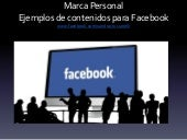 La marca personal del periodista, en Facebook