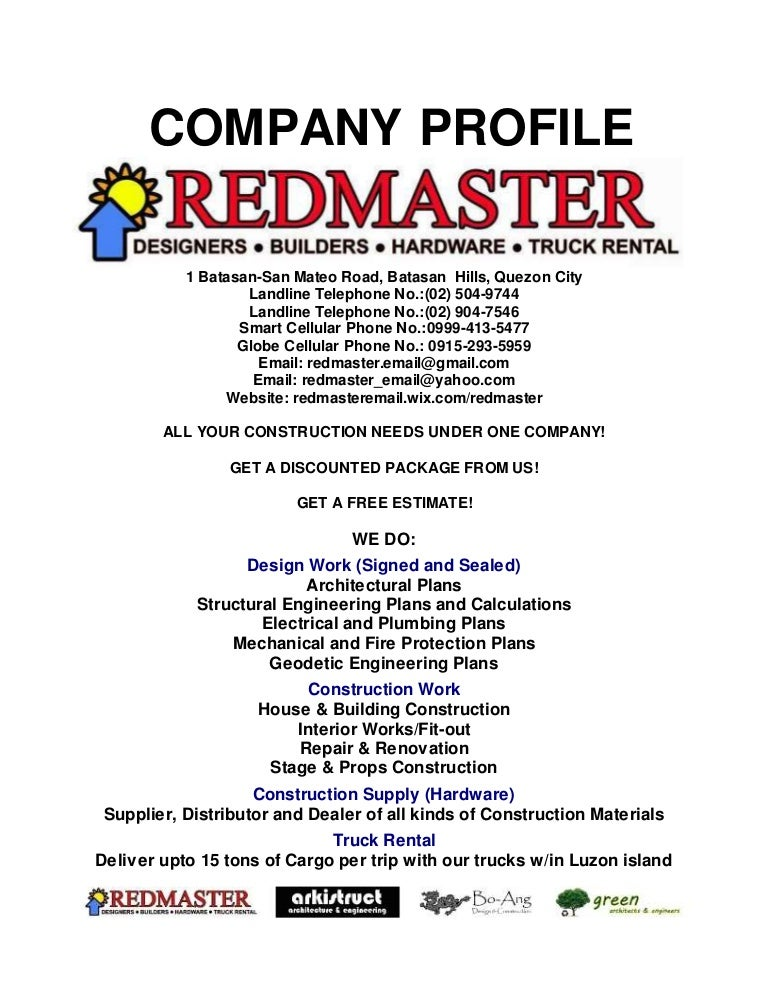 Redmaster Company Profile With List Of Projects And References
